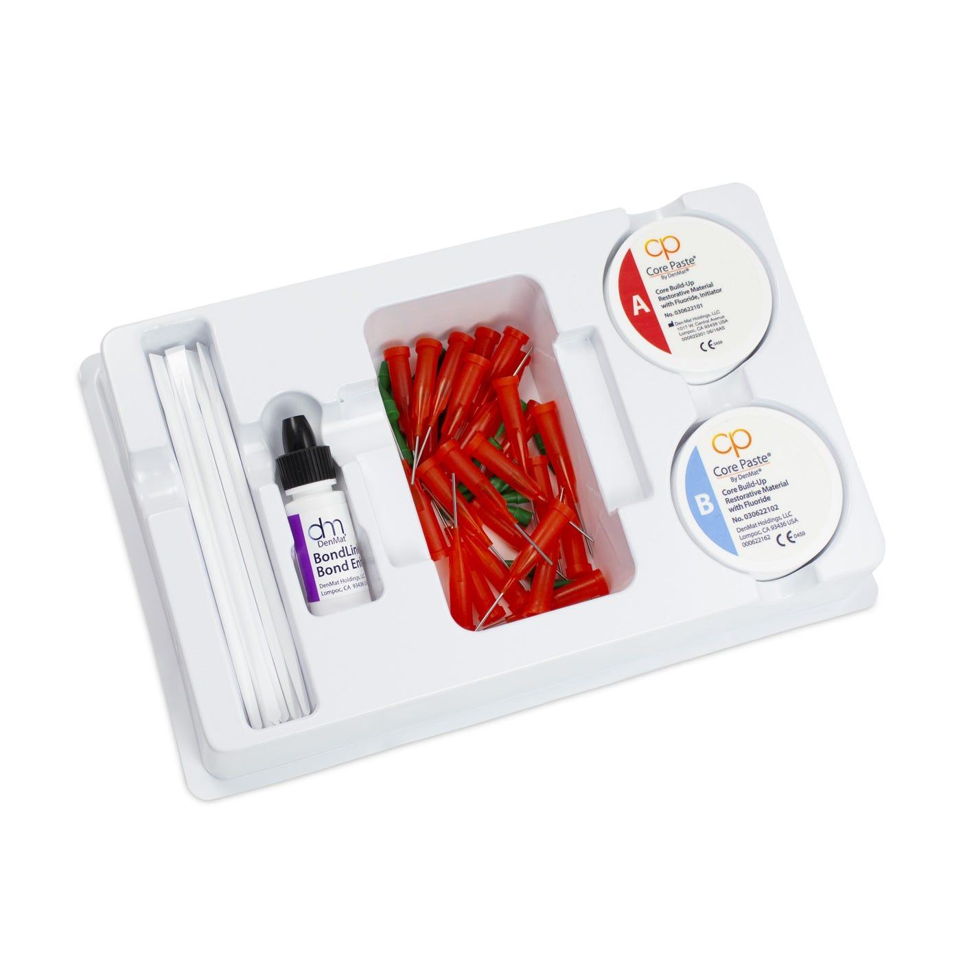 Dental Core Build-Up - Core Paste Jars White Fluoride Kit