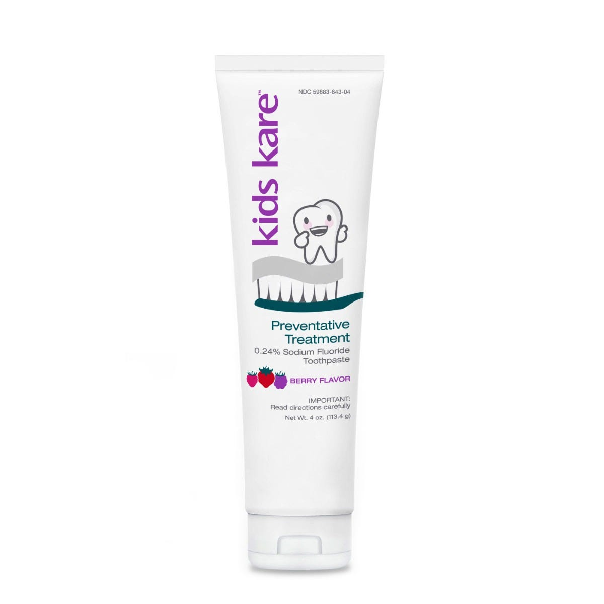 Kids Kare™ 0.24% Neutral Sodium Fluoride Toothpaste