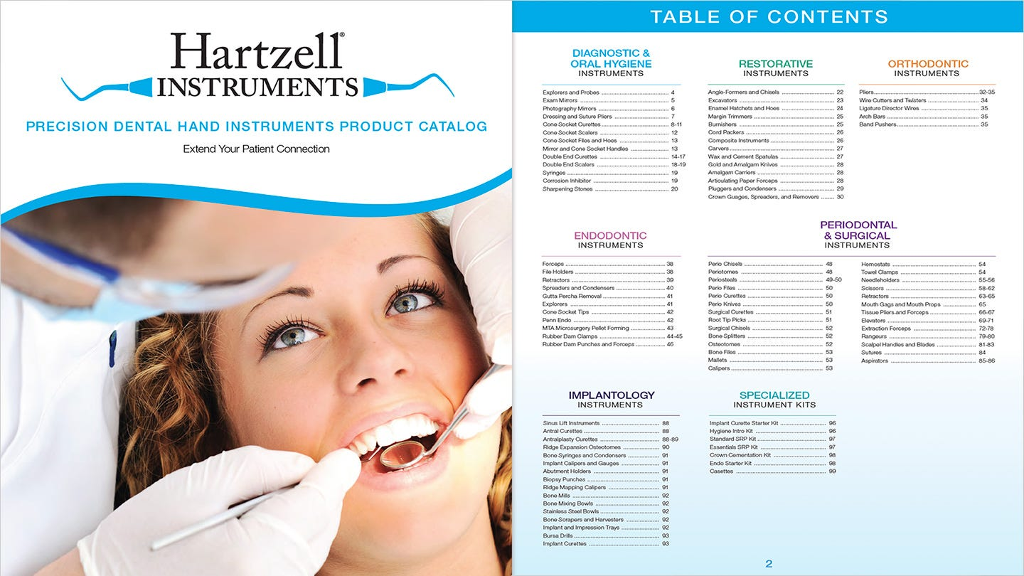 Download the Hartzell Instruments Precision Dental Hand Instruments Product Catalog